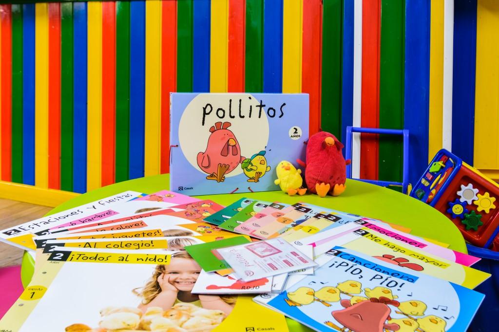 """El proyecto educativo """"Todos al nido"""" propone actividades enriquecedoras que asocian los grupos a una mascota; patitos para los niños de un año y pollitos para los de dos."""