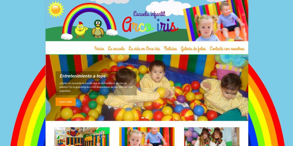 Diseño de la nueva web de la Escuela infantil arco iris